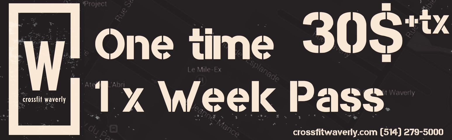 One Time Week Pass
